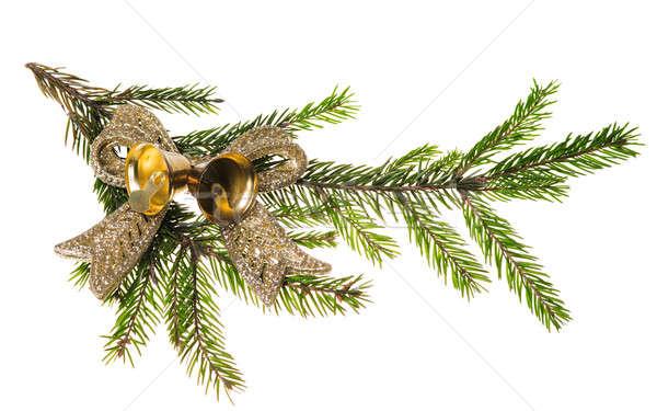 Christmas decoratie geïsoleerd witte boom achtergrond Stockfoto © Avlntn