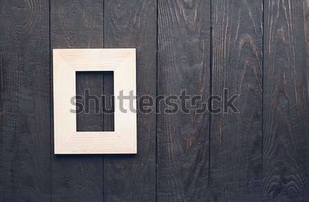 photo and paper on wooden background Stock photo © Avlntn