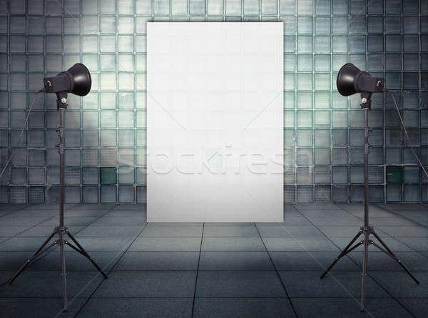 Stock photo: billboard in old studio