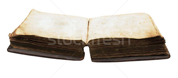 vintage book with blank pages Stock photo © Avlntn