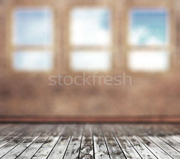 старые комнату Vintage расплывчатый конкретные стены Сток-фото © Avlntn