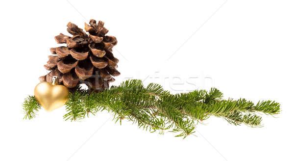 Natale decorazione isolato bianco albero neve Foto d'archivio © Avlntn