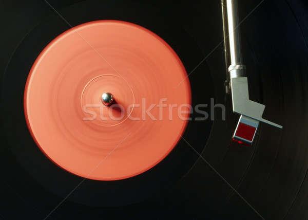 Vinil oyuncu bağbozumu siyah Retro döner tabla Stok fotoğraf © Avlntn