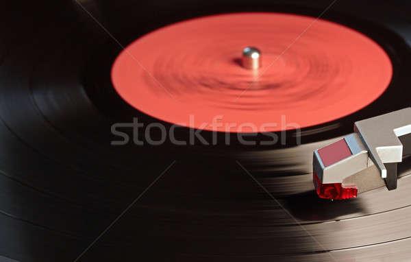 Vinyl speler vintage zwarte retro draaitafel Stockfoto © Avlntn