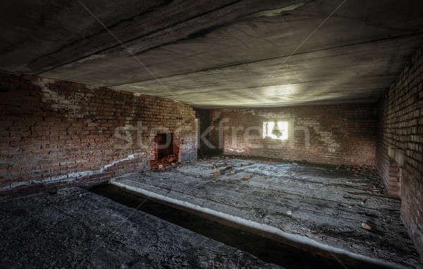 古い 捨てられた 建物 インテリア 壁 ストックフォト © Avlntn