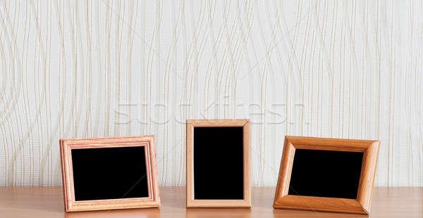 写真 フレーム 木製のテーブル テクスチャ 壁 ホーム ストックフォト © Avlntn