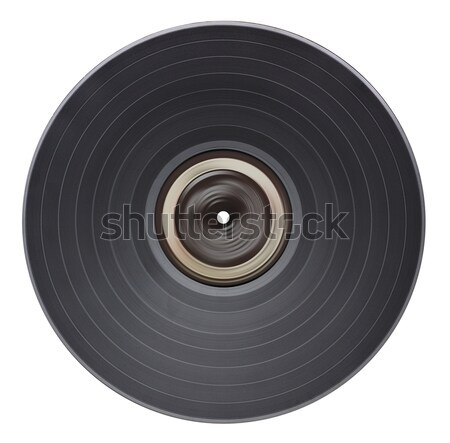 Stockfoto: Oude · vinyl · record · geïsoleerd · witte