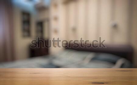 столе гостиной стены свет домой фон Сток-фото © Avlntn