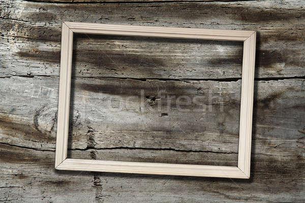 çerçeve ahşap eski doku duvar oda Stok fotoğraf © Avlntn