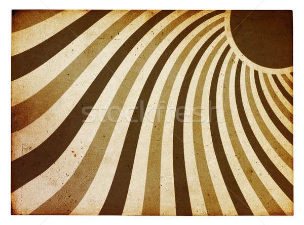 太陽 日光 古い紙 ヴィンテージ 古い グランジ ストックフォト © Avlntn