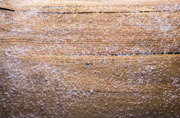 Bois neige vieux bois fond carte Photo stock © Avlntn