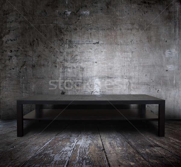 table in grunge interior Stock photo © Avlntn