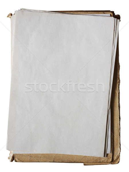 Vecchio cartella giornali isolato bianco Foto d'archivio © Avlntn