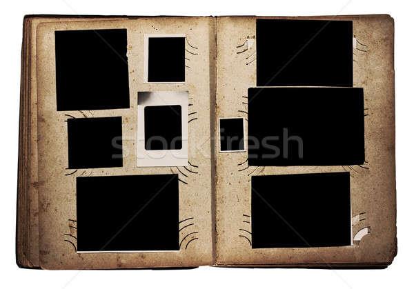 Eski fotoğraf albüm yalıtılmış beyaz kitap arka plan Stok fotoğraf © Avlntn