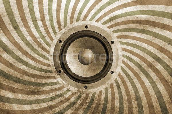 Vintage musical geluid spreker papier textuur Stockfoto © Avlntn