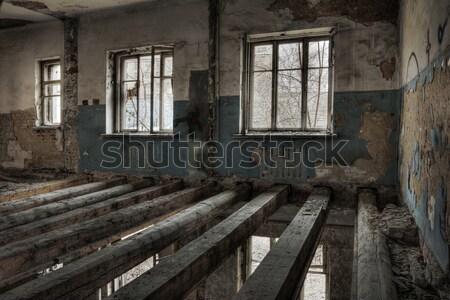 ストックフォト: 都市 · 古い · 捨てられた · 家 · 市 · 建設