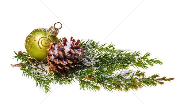 Noel dekorasyon yalıtılmış beyaz ağaç arka plan Stok fotoğraf © Avlntn