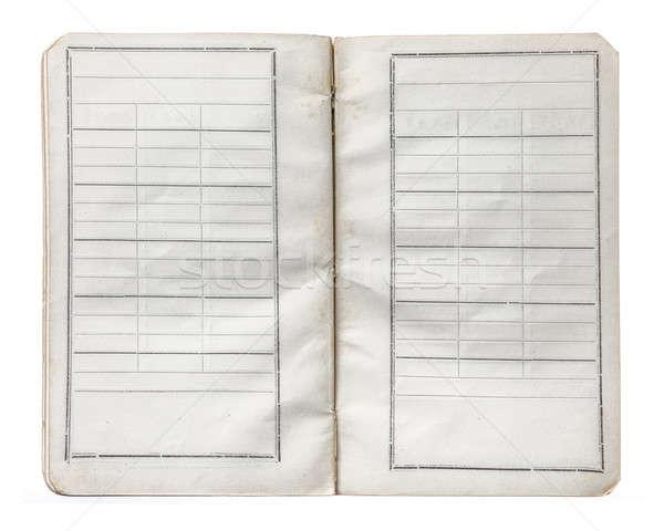 старые сведению книга изолированный белый бумаги Сток-фото © Avlntn