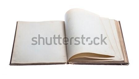 Abierto libro viejo aislado blanco libro Foto stock © Avlntn