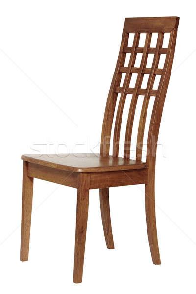 椅子 孤立した 白 木材 レトロな ヴィンテージ ストックフォト © Avlntn