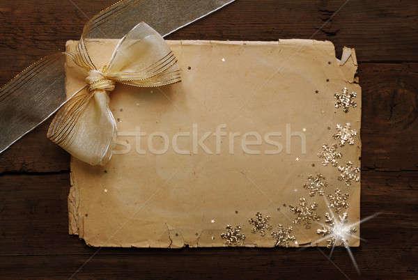 бумаги стены Рождества двери фон Сток-фото © Avlntn