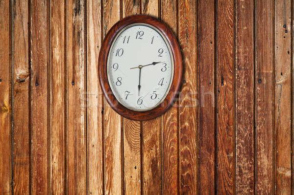 стены часы текстуры древесины интерьер Сток-фото © Avlntn