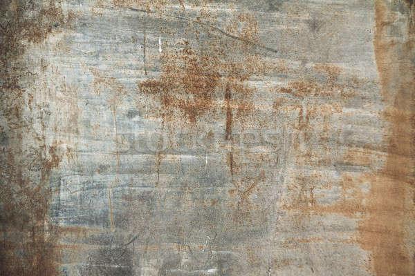 Eski kirli Metal duvar grunge plaka Stok fotoğraf © Avlntn