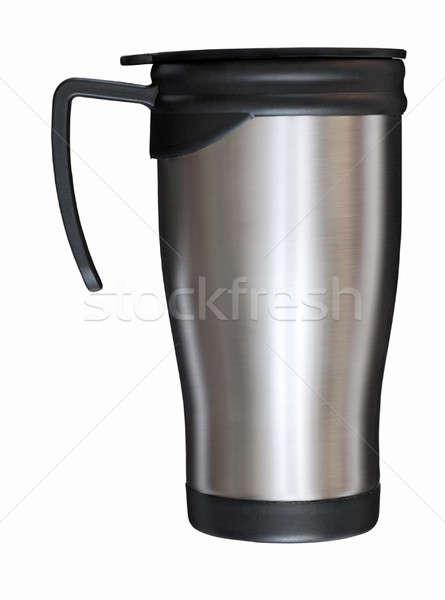 Acciaio mug isolato bianco metal Foto d'archivio © Avlntn