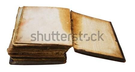 Vintage libro isolato bianco Foto d'archivio © Avlntn
