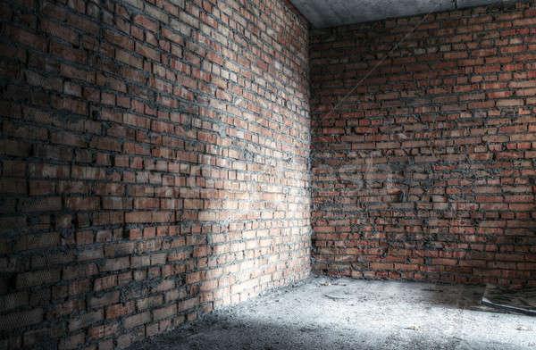 городского заброшенный комнату текстуры город стены Сток-фото © Avlntn