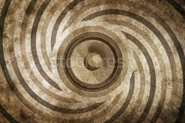 ストックフォト: ミュージカル · ヴィンテージ · サウンド · スピーカー · 紙 · 抽象的な