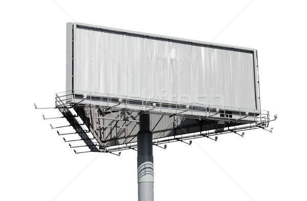Billboard geïsoleerd witte achtergrond ruimte Stockfoto © Avlntn