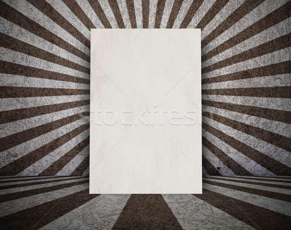 Eski grunge oda ilan panosu Retro güneş Stok fotoğraf © Avlntn