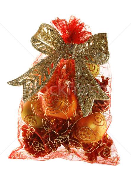 Рождества сумку подарки стены зима красный Сток-фото © Avlntn
