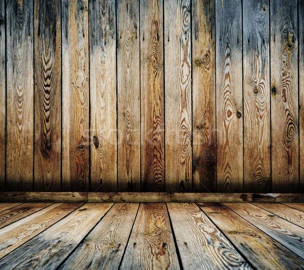 старые интерьер Vintage комнату стены Сток-фото © Avlntn