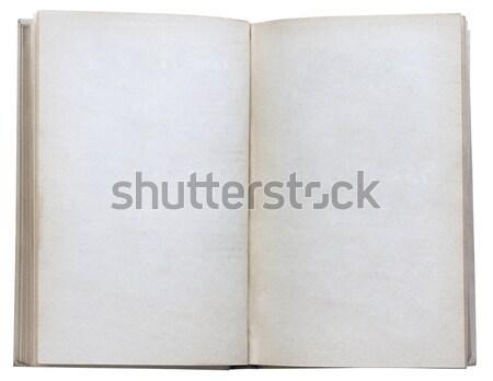 Open boek geïsoleerd witte boek achtergrond Stockfoto © Avlntn