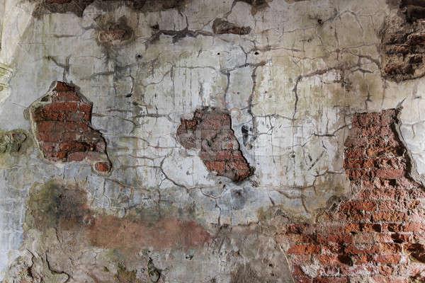 каменной стеной старые текстуры грязные стены Сток-фото © Avlntn