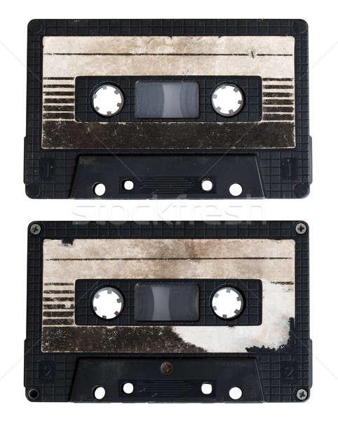 аудио кассету изолированный белый сторона школы Сток-фото © Avlntn