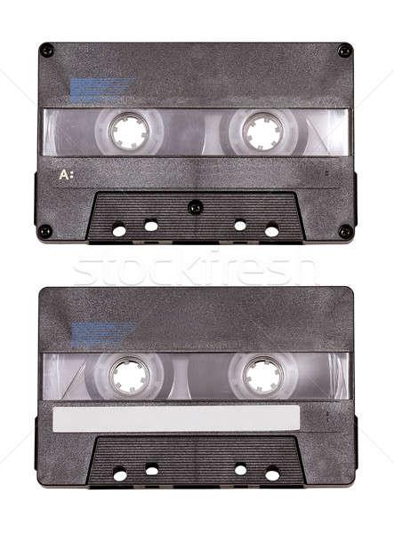 аудио кассету изолированный белый рок Сток-фото © Avlntn