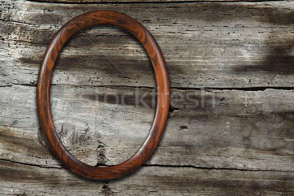 ストックフォト: フレーム · 古い · 木製 · テクスチャ · 壁 · ルーム