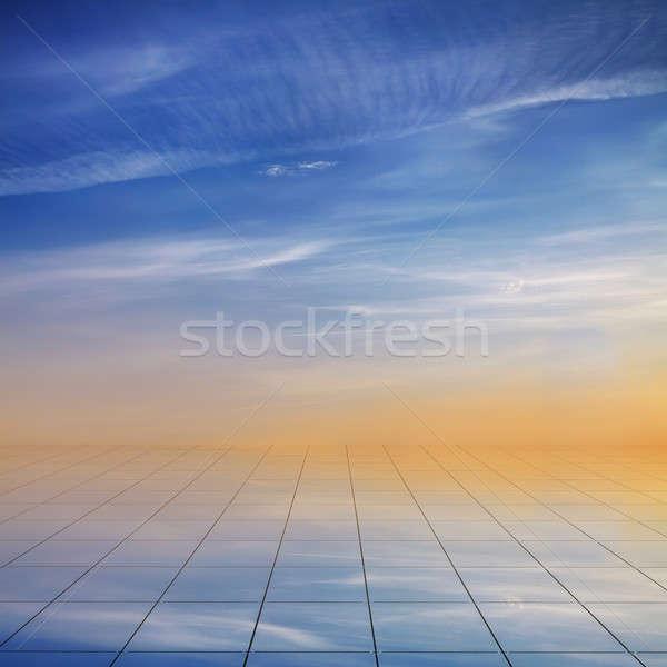 青空 階 曇った 空 雲 建物 ストックフォト © Avlntn
