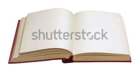 ストックフォト: 開いた本 · 孤立した · 白 · 図書 · 背景
