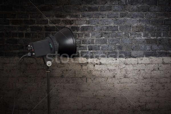 Plek licht muur muur lamp retro Stockfoto © Avlntn