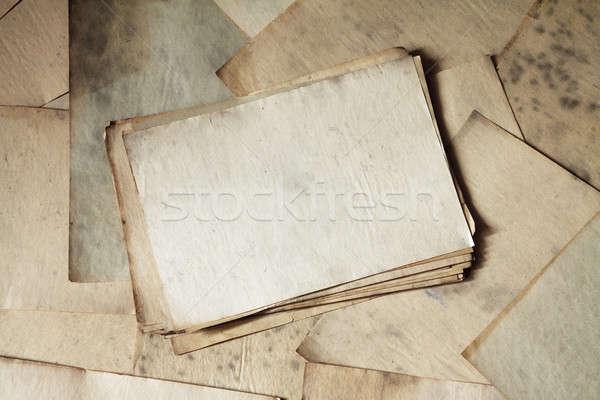 старые документы текстуры фон ретро Сток-фото © Avlntn