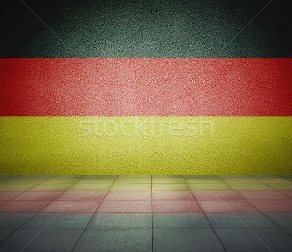 フラグ の空室 ドイツ 壁 スタジオ 家 ストックフォト © Avlntn