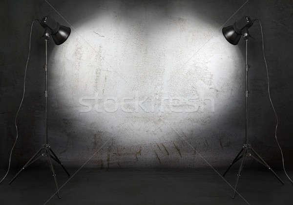 Foto studio oude grunge kamer beton Stockfoto © Avlntn