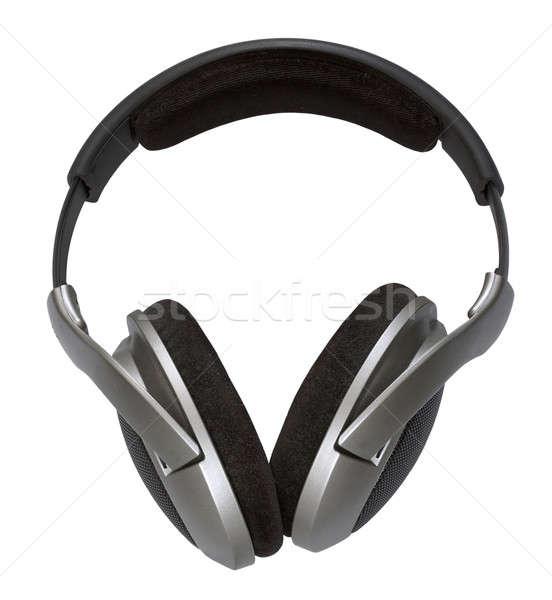 Kulaklık yalıtılmış beyaz siyah ses Stok fotoğraf © Avlntn