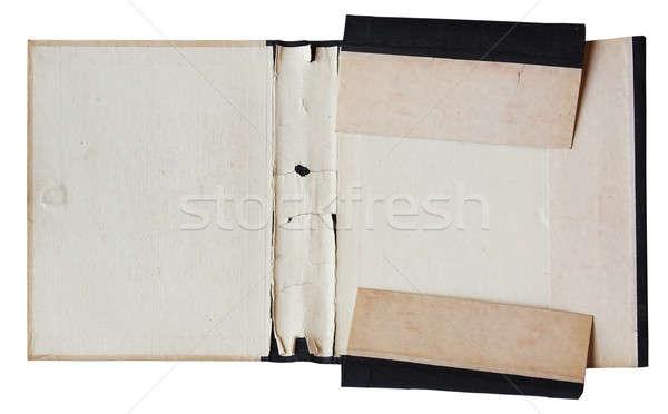 古い フォルダ 孤立した 白 紙 ストックフォト © Avlntn