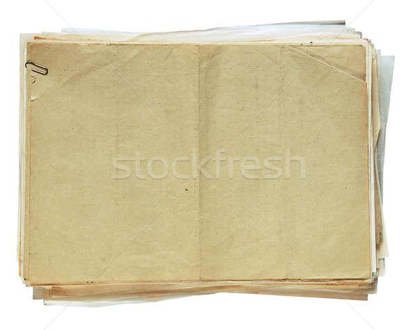 スタック 古い 論文 孤立した 白 ストックフォト © Avlntn