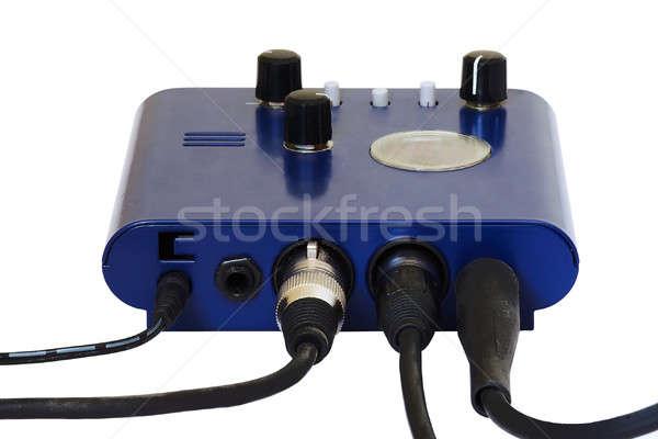 музыку синий черный власти цифровой электрических Сток-фото © Avlntn